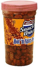 hot 'n spicy peanuts snack'n drive Energy club Nutrition info