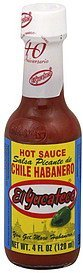 hot sauce chile habanero, red El Yucateco Nutrition info