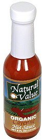 hot sauce organic, cayenne Natural Value Nutrition info
