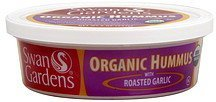 hummus organic, with roasted garlic Swans Gardens Nutrition info
