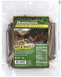 hunters sausage hot & spicy Remington Nutrition info