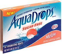 hydrating mints sugar free, melon AquaDrops Nutrition info