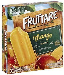 ice bars mango Fruttare Nutrition info