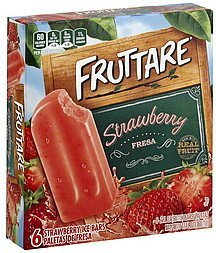 ice bars strawberry Fruttare Nutrition info