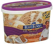 ice cream 24 karat carrot cake Blue Bunny Nutrition info