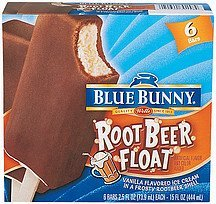 ice cream bar root beer float Blue Bunny Nutrition info