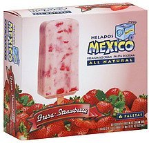 ice cream bars ice cream bar, strawberry Helados Mexico Nutrition info