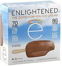 ice cream bars low fat, fudge Enlightened Nutrition info