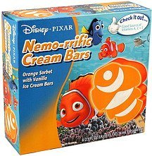 ice cream bars nemo-rrific cream Disney Nutrition info