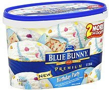 ice cream birthday party Blue Bunny Nutrition info