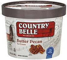ice cream butter pecan Country Belle Nutrition info