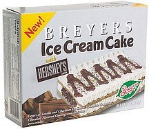ice cream cake with hershey's cocoa Breyers Nutrition info