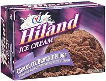 ice cream chocolate brownie fudge Hiland Nutrition info