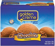 ice cream chocolate Golden Creme Nutrition info