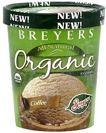 ice cream coffee Breyers Nutrition info