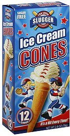 ice cream cones sugar free The Little Slugger Nutrition info
