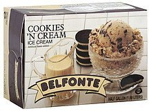 ice cream cookies 'n cream Belfonte Nutrition info