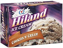 ice cream cookies n' cream Hiland Nutrition info