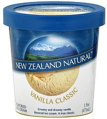 ice cream flavored, vanilla classic New Zealand Natural Nutrition info