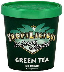 ice cream green tea Tropilicious Nutrition info