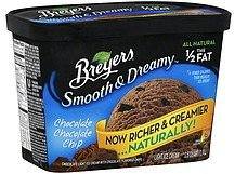 ice cream light, chocolate chocolate chip Breyers Nutrition info