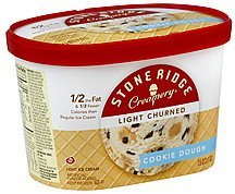 ice cream light churned, cookie dough Stone Ridge Creamery Nutrition info