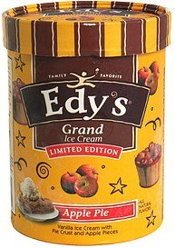 ice cream limited edition, apple pie Edys Nutrition info
