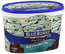 ice cream mint chocolate chip Blue Bunny Nutrition info