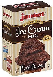 ice cream mix dutch chocolate Junket Nutrition info