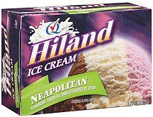 ice cream neapolitan Hiland Nutrition info