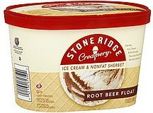 ice cream & nonfat sherbet root beer float Stone Ridge Creamery Nutrition info