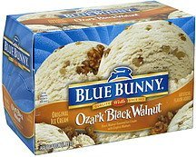 ice cream ozark black walnut Blue Bunny Nutrition info