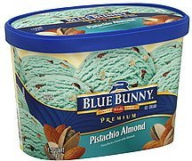 ice cream premium, pistachio almond Blue Bunny Nutrition info