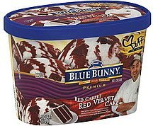 ice cream premium, red carpet red velvet cake Blue Bunny Nutrition info