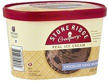 ice cream real, chocolate fudge brownie Stone Ridge Creamery Nutrition info