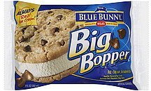 ice cream sandwich big bopper Blue Bunny Nutrition info