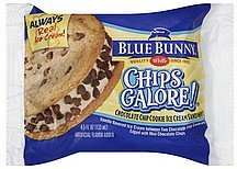 ice cream sandwich chips galore, chocolate chip cookie Blue Bunny Nutrition info