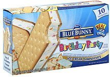 ice cream sandwiches birthday party Blue Bunny Nutrition info
