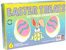 ice cream sandwiches easter treats, vanilla Mister Cookie Face Nutrition info