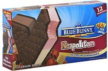 ice cream sandwiches neapolitan Blue Bunny Nutrition info