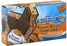 ice cream sandwiches peanut butter fudge chip Blue Bunny Nutrition info