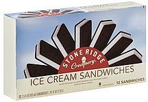 ice cream sandwiches Stone Ridge Creamery Nutrition info