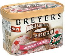 ice cream strawberries & cream Breyers Nutrition info