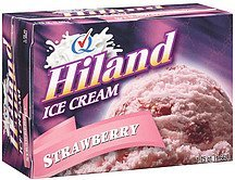 ice cream strawberry Hiland Nutrition info