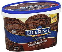 ice cream super fudge brownie Blue Bunny Nutrition info