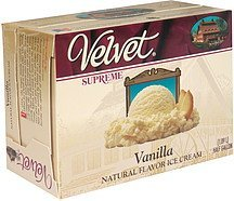 ice cream vanilla Velvet Supreme Nutrition info