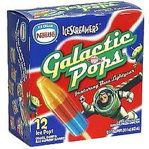 ice pops galactic IceScreamers Nutrition info