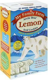 iced cookies lemon, arctic bear My Family Farm Nutrition info