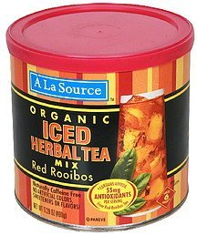 iced herbal tea mix red rooibos, organic A La Source Nutrition info