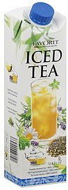 iced tea alpine herbs Favorit Nutrition info